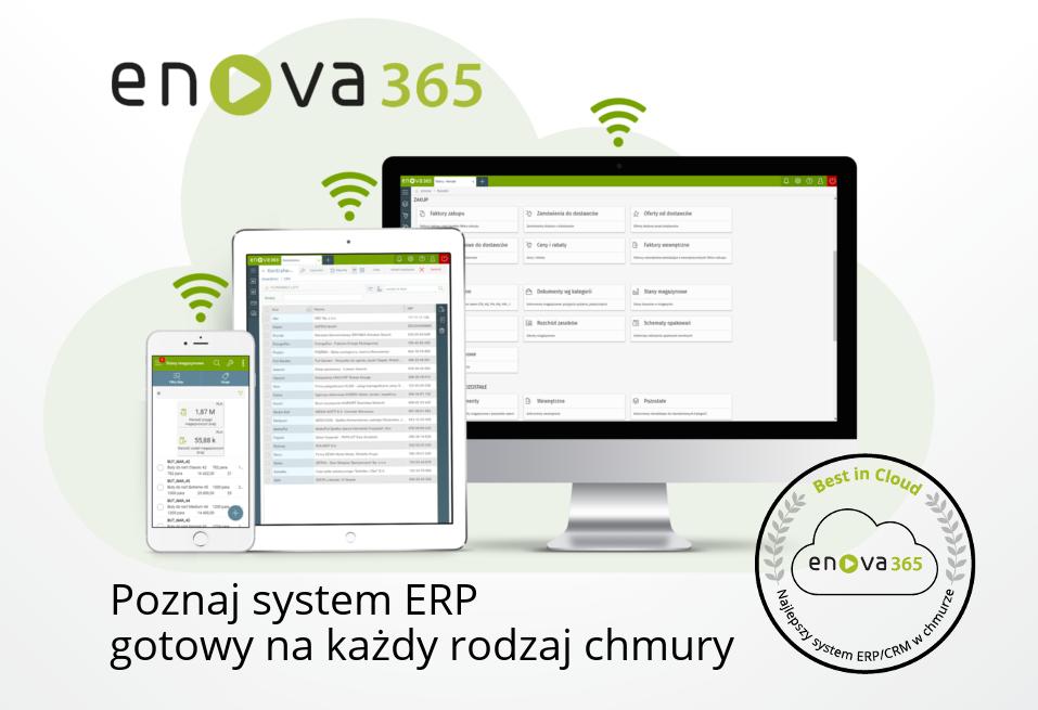 Oprogramowanie enova365 gotowe do pracy w chmurze obliczeniowej